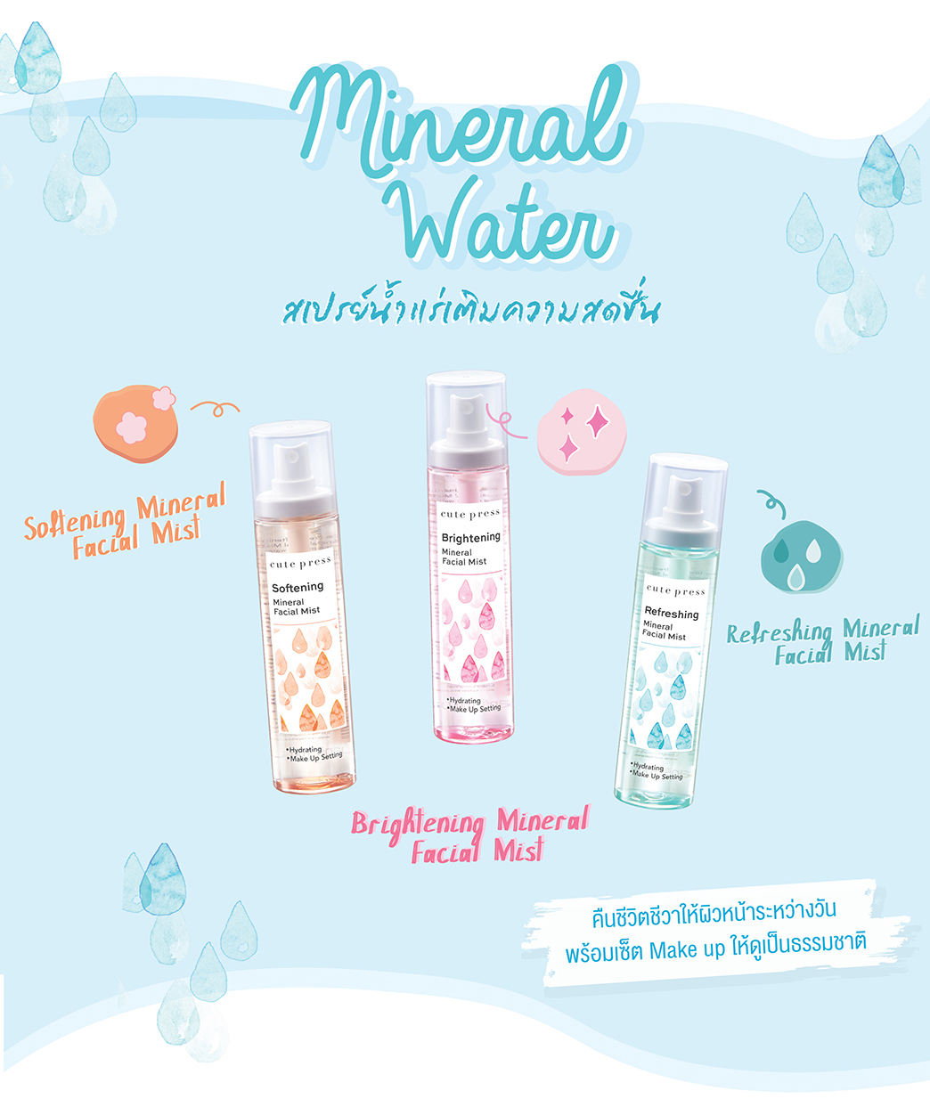 รีวิว Cute Press Refreshing Mineral Facial Mist